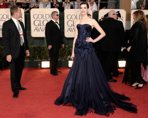 Anne Hathaway @ The Golden Globes