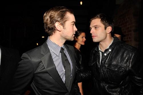 Chace Crawford & Sebastian Stan @ MILK