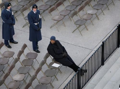 Denzel Washington @ the inauguration