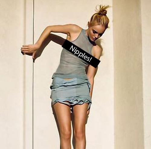 Kate Bosworth censored nipples
