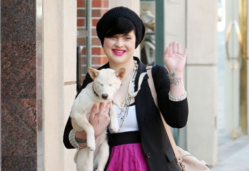 Kelly Osbourne & Dog