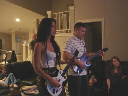 Megan Fox plays Guitar Hero