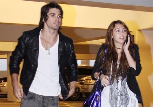 Miley Cyrus and her boyfriend