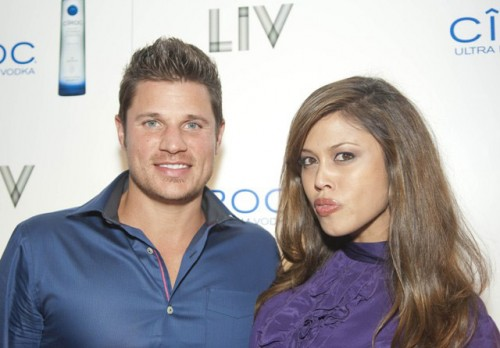 Nick Lachey & Vanessa Minnillo @ LIV