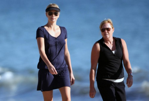 Charlize Theron hits the beach