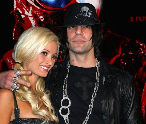 Holly Madison humors Criss Angel