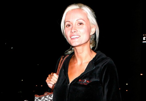 Holly Madison looks tired