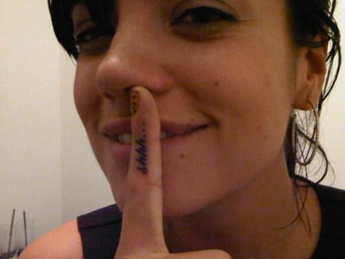 Lily Allen tatoo