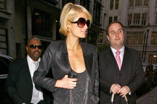 Paris Hilton roams London