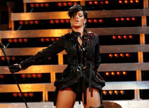 Rihanna performs in Dublin