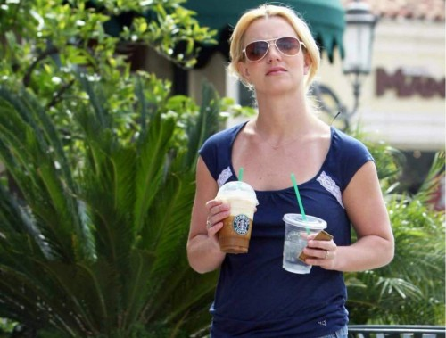 Britney Spears and Starbucks