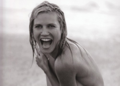 Heidi Klum nude on a beach
