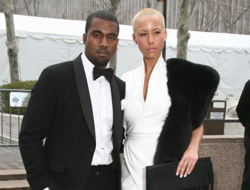 Kanye West and his lady friend