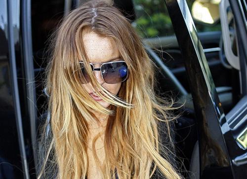 Lindsay Lohan and her car