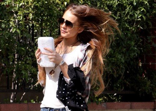 Lindsay Lohan in shorts