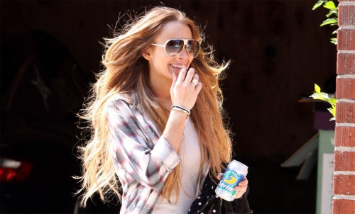 Lindsay Lohan and her Sprite