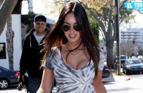 Megan Fox goes shopping