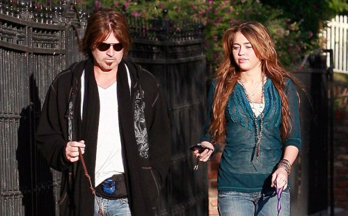 billy ray miley cyrus walk dogs