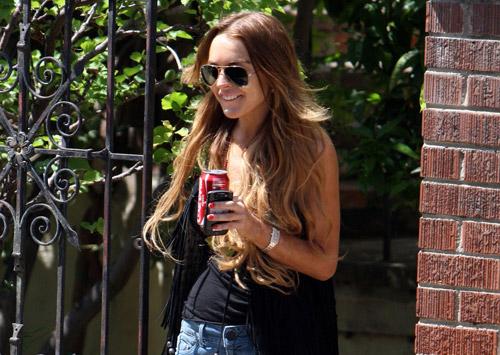 Lindsay Lohan dresses nice