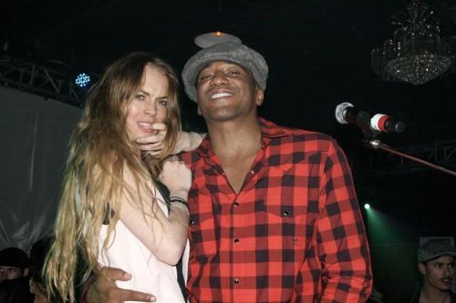 Lindsay Lohan @ Queen Latifah's party