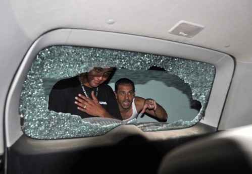 Tom Brady, Gisele Bundchen SUV shot