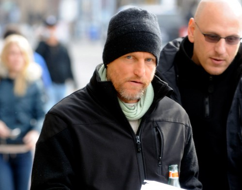 Woody Harrelson is not amused