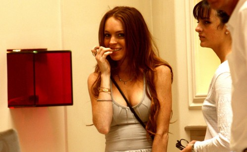 lindsay lohan dress