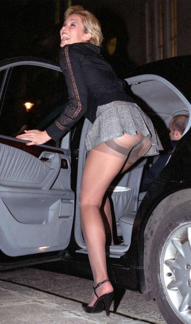 Candid short skirts pantyhose upskirt oops
