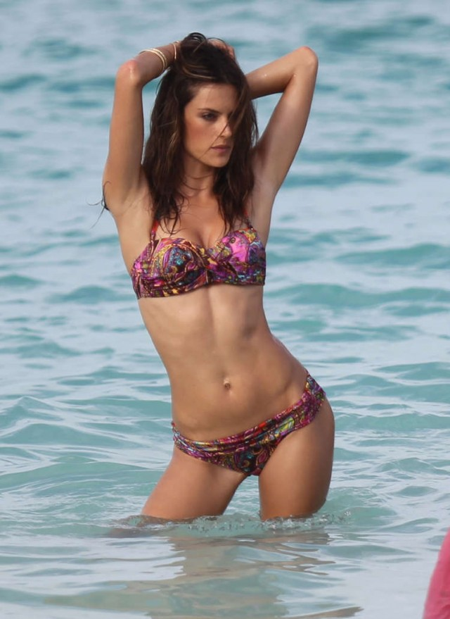 Alessandra Ambrosio Shows Off Sexy Body For Swimsuit Shot