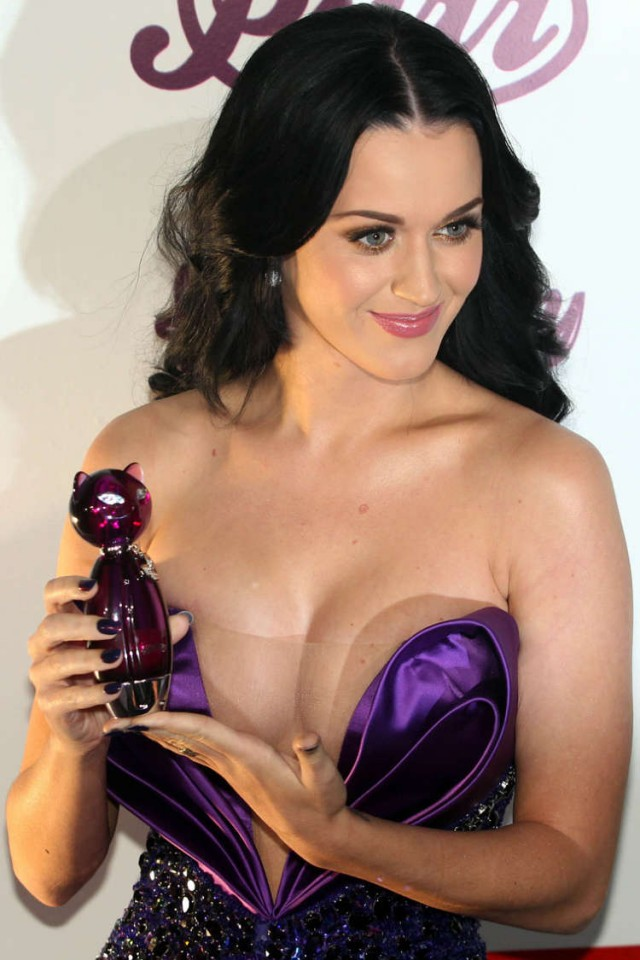 Katy Perry Launches Purr With Cleavage