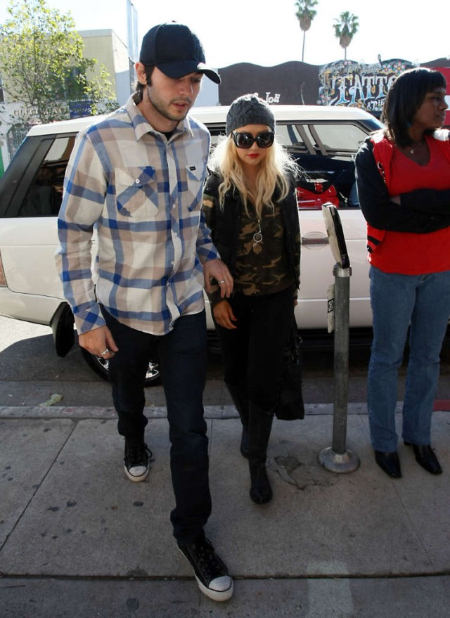 Christina Aguilera And Matt Rutler Lunch At The Ivy Before New Years!