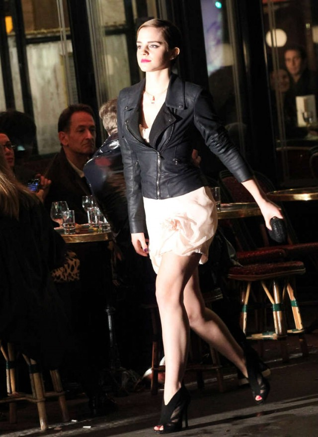 Emma Watson Films Lancome Ad On The Streets Of Paris!