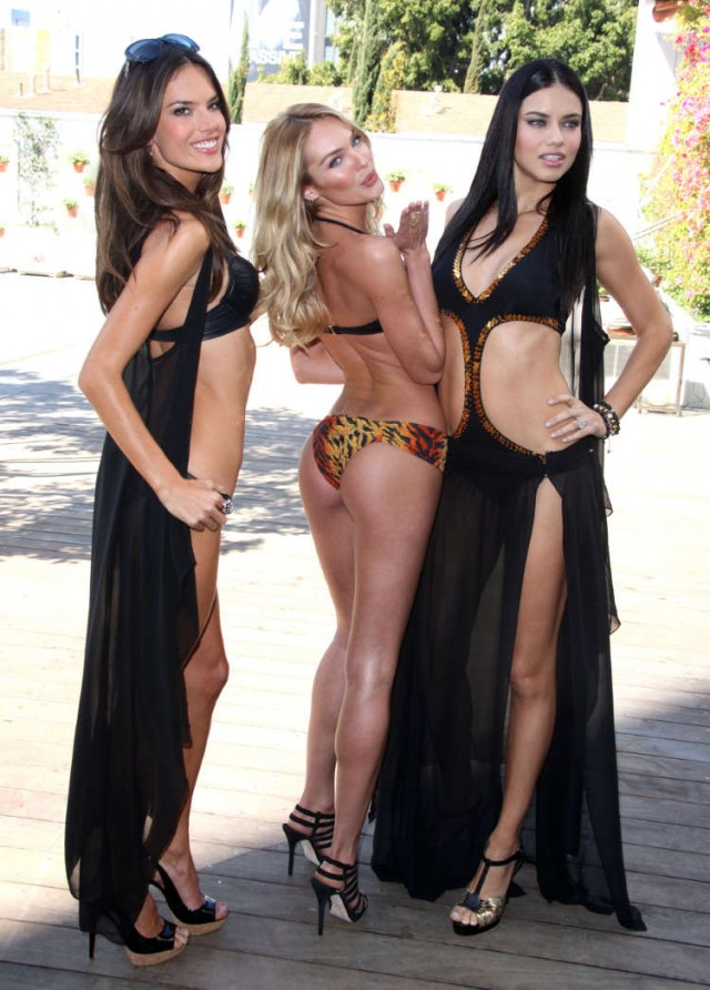 Models attend the Victoria's Secret Angels swimwear launch 2011 in Los Angeles, CA