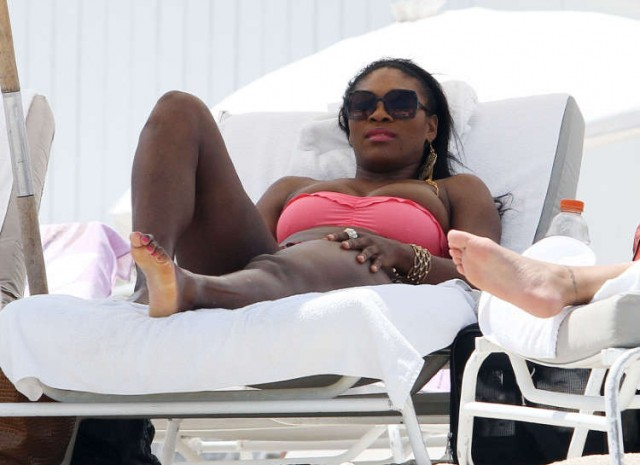 Serena Williams Hits The Beach