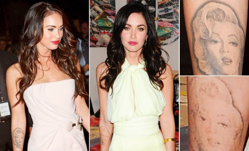 megan fox tattoos removed. Megan Fox Removing Her Tattoo