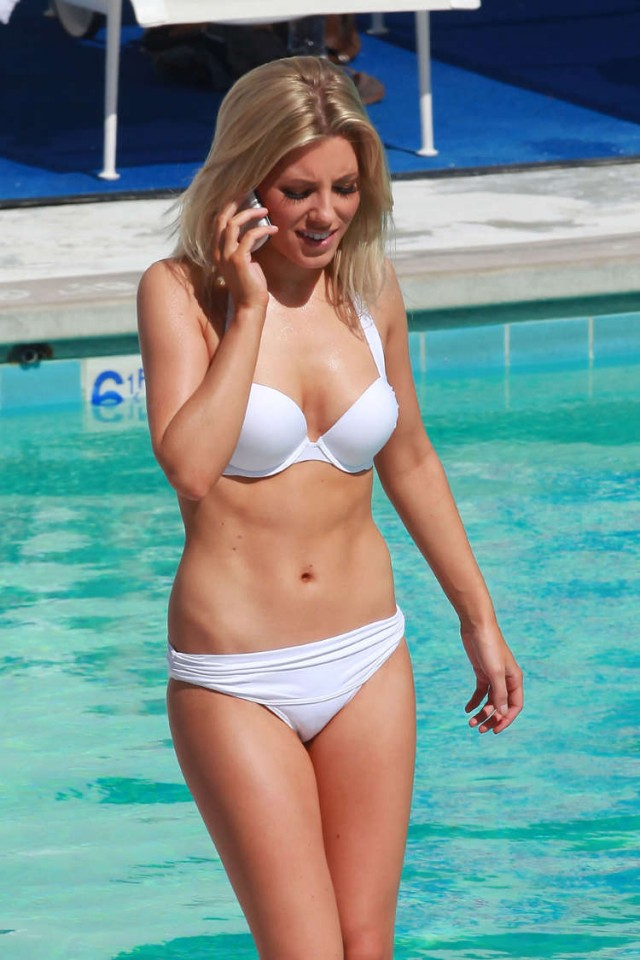 Una Healy, Frankie Sanford, Mollie King of the Saturdays Poolside