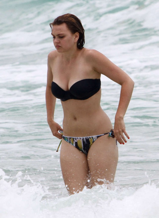 Aimee Teegarden's Bikini Beach Day in Miami