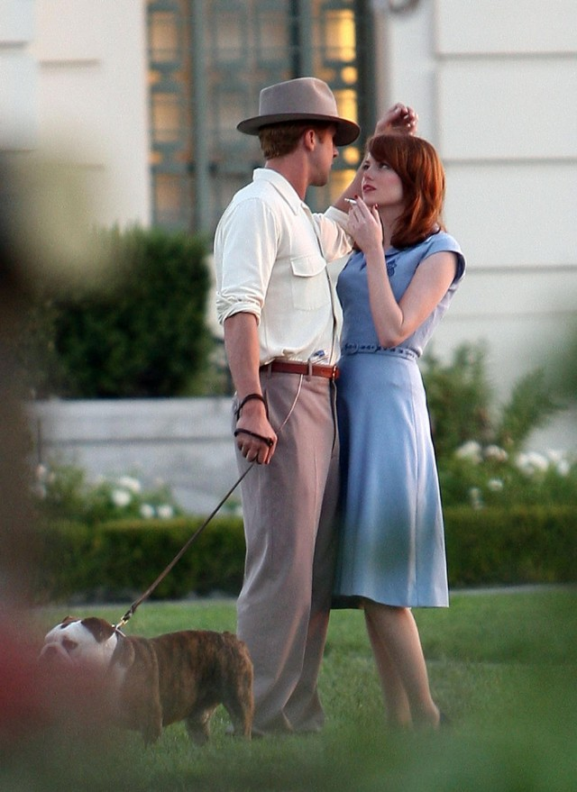 "Ryan Goslin On Set Of ""Gangster Squad"""