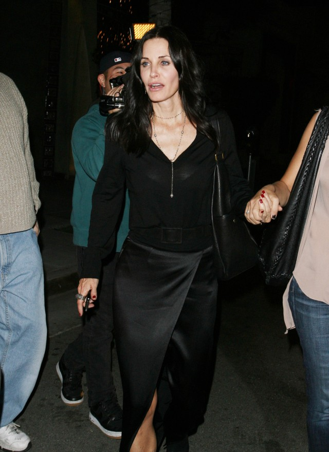 Courteney Cox Shows A Glimpse Of Panties!