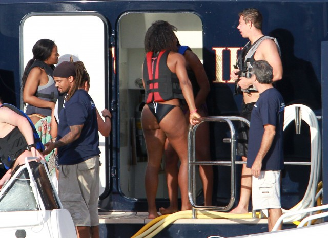 Serena Williams' Wild Christmas Raft Ride