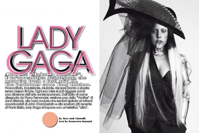 Lady Gaga for Vogue Naked