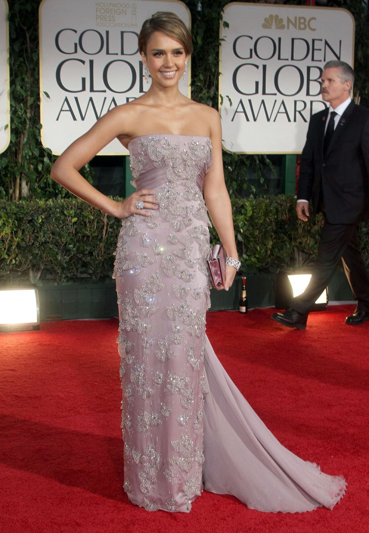 Jessica Alba at the 69th Annual Golden Globes