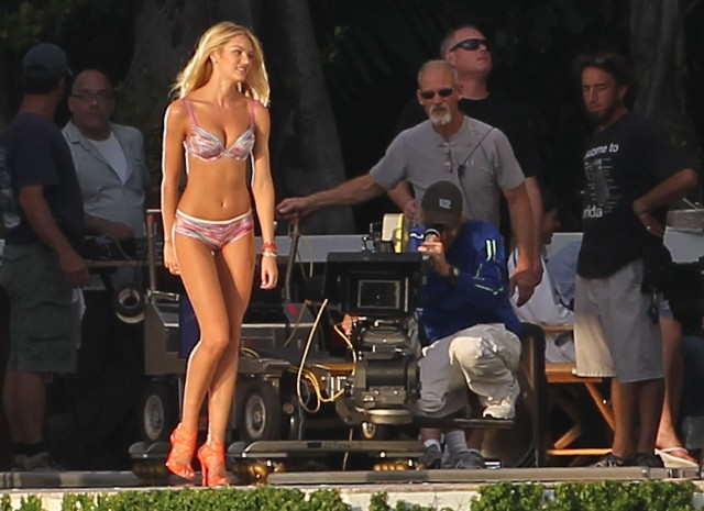 Victoria Secret Models Work With Director Michael Bay