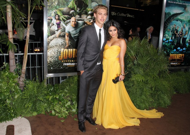 Vanessa Hudgens and Austin Butler at Journey 2: The Mysterious Island Premiere