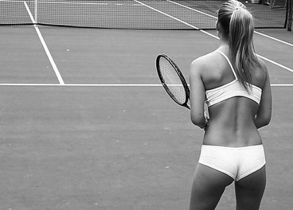 Bar Refaeli underwear tennis
