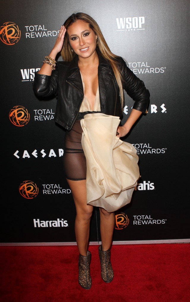 WARNING: Contains Nudity ** Adrienne Bailon has a wardrobe