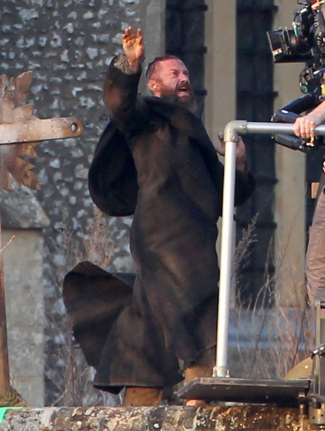 "Hugh Jackman Unleashes Wolverine On Set Of ""Les Miserables"""