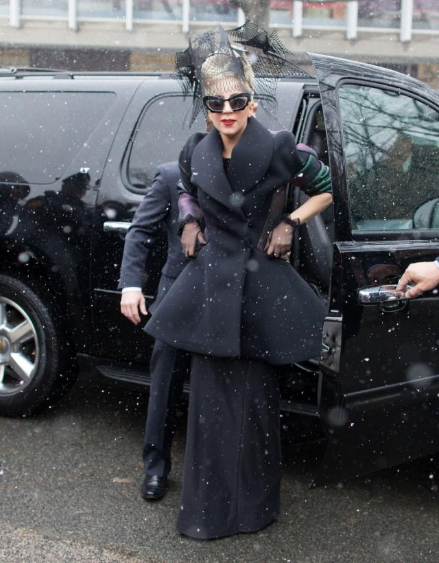 Lady Gaga Stops By Harvard Yard