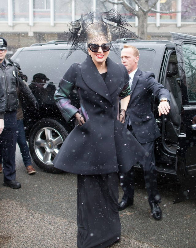 Lady Gaga Stops By Harvard Yard