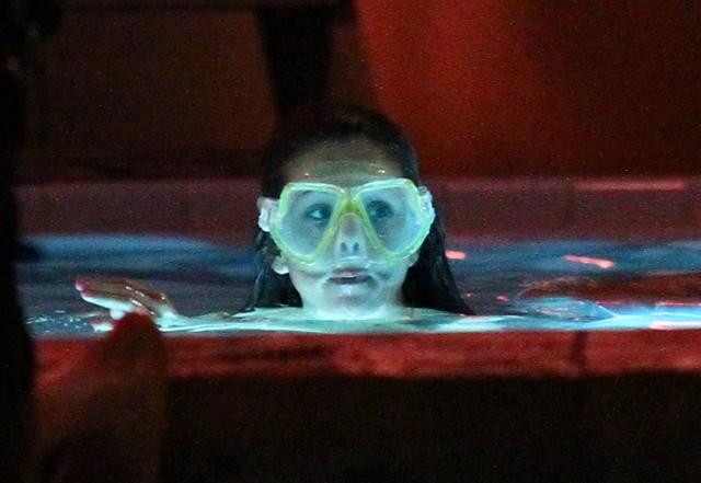 Vanessa, Selena And Ashley Film A Hot Tub Scene